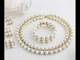 beautiful pearl gold jewellery necklace designs