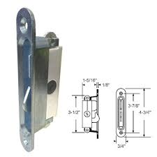 Patio Door Mortise Lock Replacement Sliding Glass Patio Door Lock Mortise Type 3 7 8 Holes