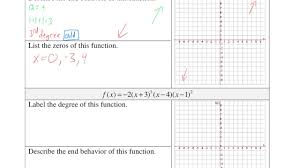 graphing polynomial functions youtube
