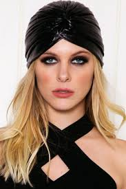 leather headband leather turban headband haute rebellious