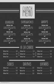 design your menu board online postermywall