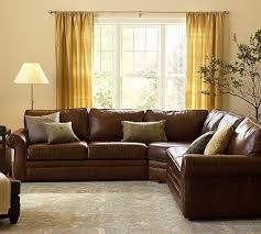 Pearce Sofa Pottery Barn by Pearce Leather 3 Piece L Shaped Sectional Down Blend Wrapped