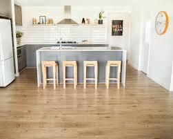 kitchen floor grey varnished wood kitchen cabinet blue glass