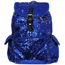 bling sequins large backpack royal navy go cheer bag gym dance