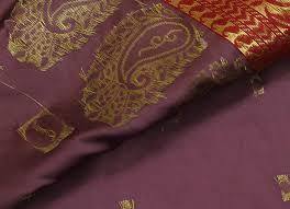 Indian Curtain Fabric Indian Art Silk Woven Zari Brocade Saree Curtain Fabric Aqua Mauve