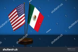 mexico flag usa desk flags on stock illustration 594446285