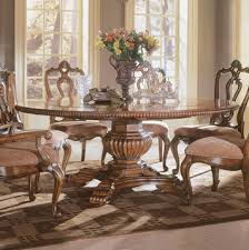 Wisconsin Furniture Company Twin Pedestal Table Villa Cortina Round Pedestal Table Dining Room Set By Universal