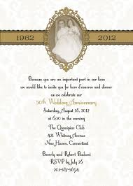 golden wedding anniversary invitation golden wedding anniversary
