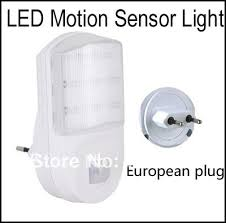 motion sensor night light plug in ac powered wall european plug 9 led motion detector sensor pir night