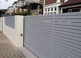 Best  Modern Gates Ideas On Pinterest Aluminium Fencing - Brick wall fence designs
