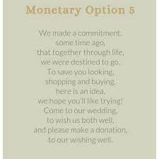 Wedding Gift Money Poem Fascinating Wedding Invitation Wording For Monetary Gifts 66 On