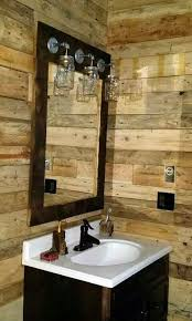 rustic barnwood mirror light mason jar vanity farmhouse style