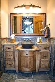Rustic Bathroom Vanities For Vessel Sinks Vibrant Rustic Bathroom Vanities For Vessel Sinks Rustic Pine