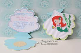 little mermaid baby shower invitations theruntime com