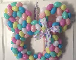 minnie mouse easter egg easter disney wreath etsy