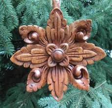 woodcarved statue ornament using butternut wood