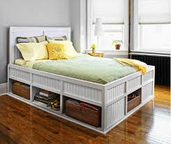 Dania Bed Frame Varnished Wood Plank Headboard Dania The Insigna Mixes Expert