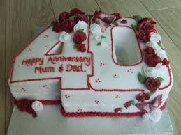 ruby wedding cakes decorations ruby wedding anniversary cake the wedding