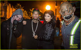 president halloween mask kylie jenner u0026 tyga are getting all ready for halloween photo