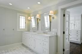 white marble tile bathroom with white marble chaser tile envy