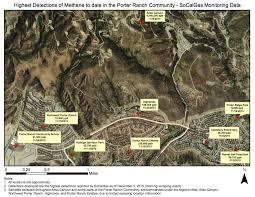 Gas Map Porter Ranch Gas Leak Map