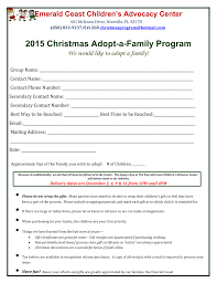 2015 adopt a family program emerald coast children s