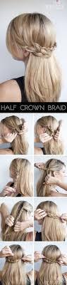 Hochsteckfrisurenen Halboffen Einfach by Die Besten 25 Frisuren Halboffen Ideen Auf Haare
