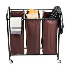 laundry sorters and hampers 3 bag laundry sorter maidmax heavy duty rolling laundry sorter