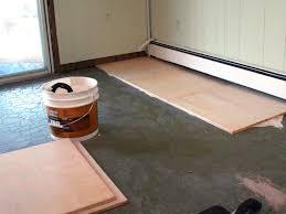 plywood flooring ideas on concrete slab steps plywood flooring