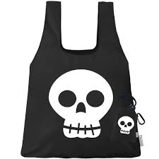hbk halloween costume chicobag halloween bag skull themed reusable shopping bag