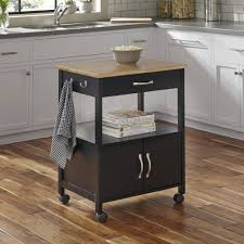home styles dolly madison banner kitchen cart black walmart com