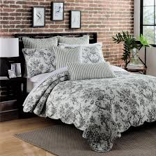 Ideas For Toile Quilt Design Black And White Toile Bedding And Pillow Syrup Denver Decor