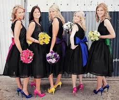 bridesmaids accessories bridesmaids dresses different styles and colours black