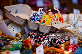 painted easter eggs for sale easter market in prague photos and images getty images