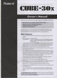 roland cube 15x guitar amplifier owners manual