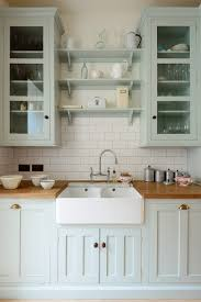 Farm Sink With Backsplash by Things We Love Subway Tile Grey Kitchen Cabinets Subway Tiles