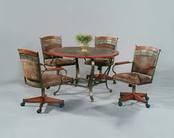 kitchen table with caster chairs incredible kitchen table with rolling chairs tilt swivel dining