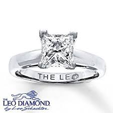 leo engagement rings the leo the leo 2 carat princess cut