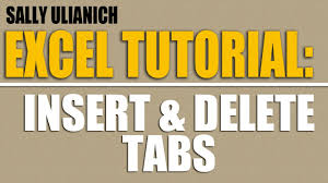 tutorial how to add u0026 delete tabs in excel 2010 youtube