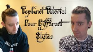 men u0027s hair tutorial 4 different top knot styles youtube