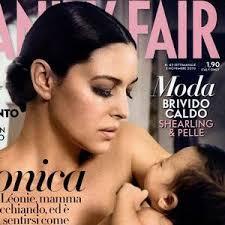 Monica Bellucci Vanity Fair Monica Bellucci Sa Petite Léonie En Couverture Du Vanity Fair