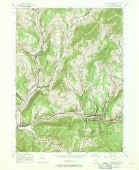 Usgs Topographic Maps 1945 Usgs Topo Map Fleischmanns