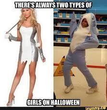 Sexy Halloween Meme - two types of girls halloween ramdom anime pinterest