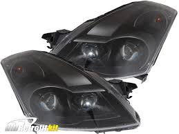 nissan altima 2016 headlights 2007 2009 nissan altima sedan hid bi xenon quad projector retrofit
