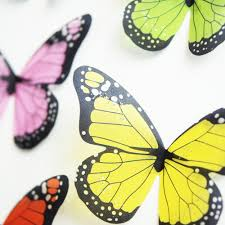 3d crystal butterflies home decor wall stickers 18pcs for kids