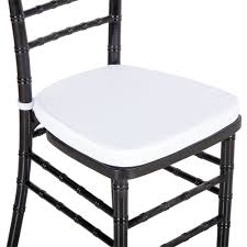 lancaster table u0026 seating white chiavari chair cushion 1 3 4