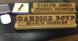 Desk Name Plates Wood Wooden Name Plates Extra Large Desktop