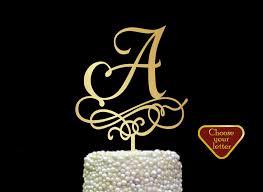 k cake topper letter a cake topper wedding cake topper gold initial cake