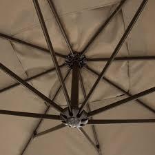 Offset Umbrella With Screen by Amazon Com Abba Patio Offset Patio Umbrella 10 Feet Hanging