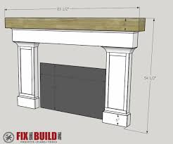 how to build a fireplace surround and mantel fixthisbuildthat
